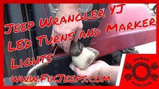 Jeep Wrangler YJ - Upgrade to LED Turn Signals. Plus we have an issue! #ledturns #ledupgrade