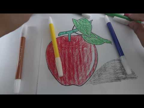 Cara Menggambar Buah Apel How To Draw An Apple Ruby Nurbaidi