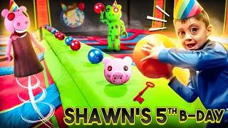 SHAWN'S VERY PIGGY Birthday!!  (FV Family Escape Room Bday Haul Vlog)