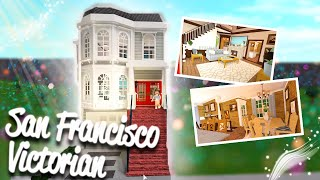 San Francisco Victorian Townhouse *The Fuller House house*    Bloxburg Speedbuild (Roblox)