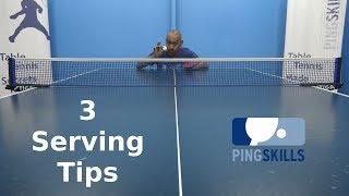 3 Serving Tips   Table Tennis   PingSkills