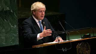 video: UN General Assembly 2019: Boris Johnson compares Brexit to endless torment suffered by Prometheus