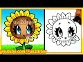 Easy Things to Draw - How to Draw a Sun Flower - Fun2draw Art Lesson