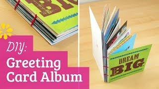 DIY Greeting Card Album - Perfect for Holiday, Birthday or Grad Cards!   Sea Lemon