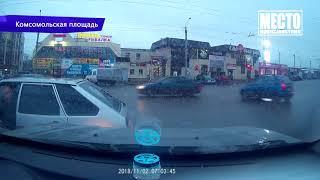 Видеорегистратор  ДТП пьяный на фуре Слободской тракт