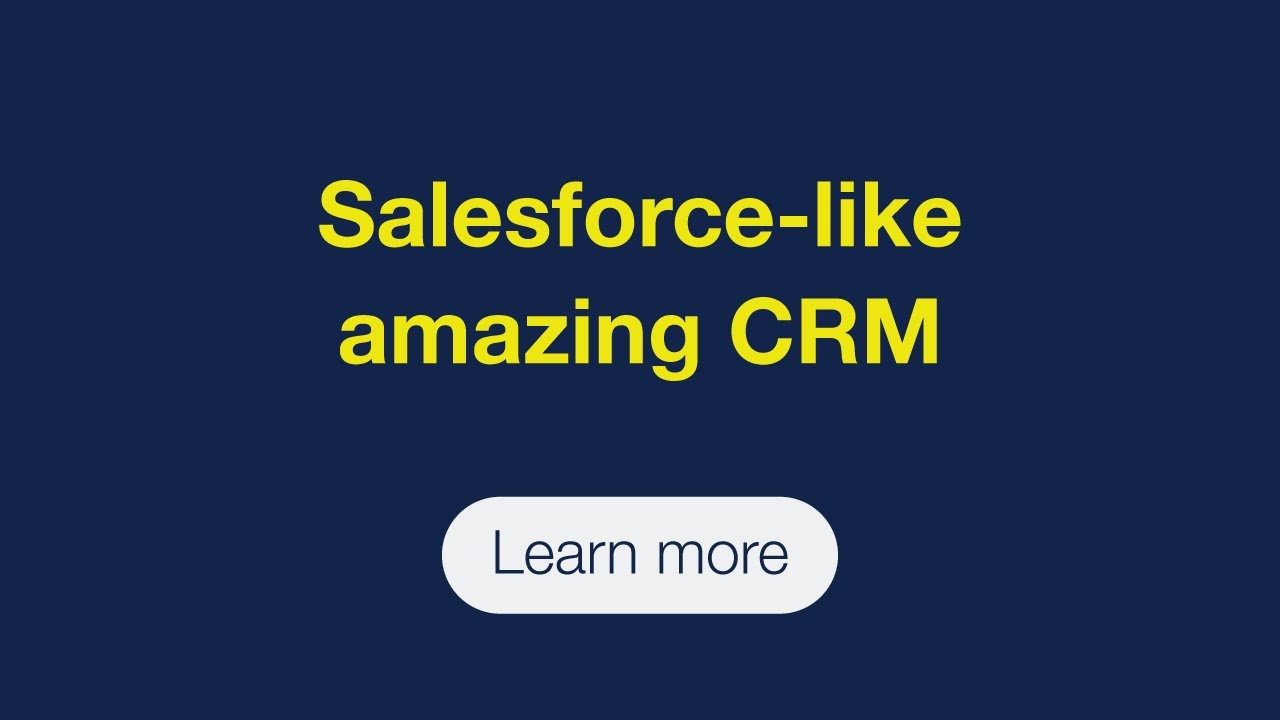Salesforce-like amazing CRM