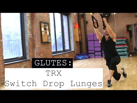 TRX Switch Drop Lunges