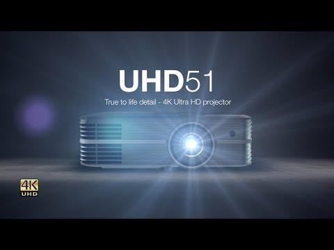 Optoma UHD51 (4K, 2400lm, 1.21 - 1.59:1, DLP, UHP)