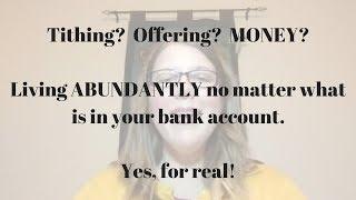 Abundance and...Tithing?