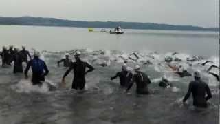 preview picture of video 'Triathlon Trevignano 2012 - La partenza'