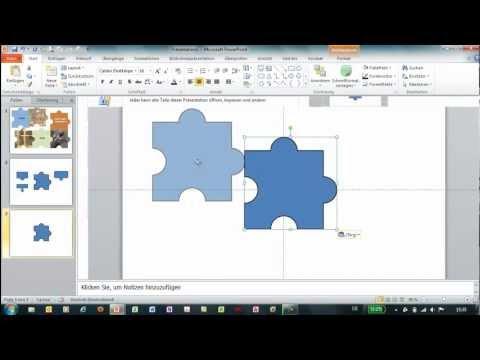 PowerPoint - Eigene Formen erstellen - Puzzle-Teile