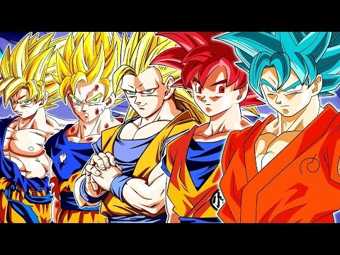 All of goku's transformations/power levels.