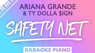 Ariana Grande, Ty Dolla $ign - safety net (Karaoke Piano)