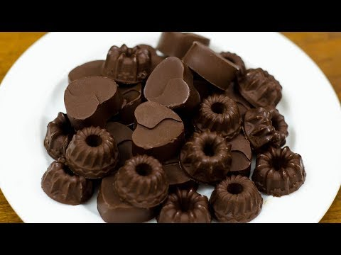 HOME MADE CHOCOLATE RECIPE WITH ONLY 4 INGREDIENTS