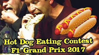 Hot Dog Eating Contest held at the F1 Grand Prix 2017 Silverstone Woodlands