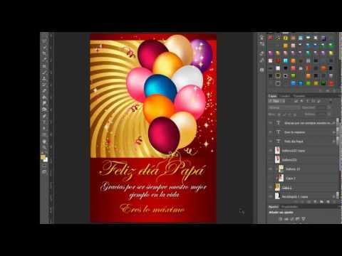 Tarjeta de felicitación para papá Photoshop by Yanko0