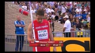 Vítězslav Veselý 87,17m - winning throw of WCH  MOSCOW 2013 - Javelin Throw