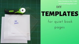 Templates For The Perfect Quiet Book Pages