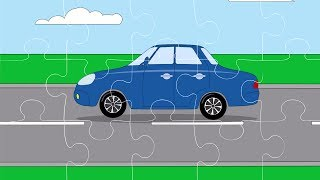 Мультфильм для детей - Пазл с машинками (Легковые автомобили)