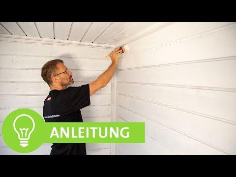 Holzdecke und -wände lackieren