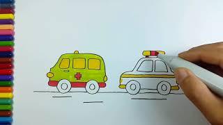 Cara Mewarnai Mobil Polisi ฟรวดโอออนไลน ดทวออนไลน คลป