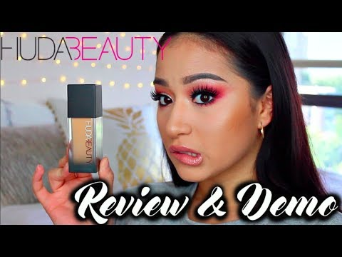 HUDA BEAUTY #FAUXFILTER FOUNDATION REVIEW & DEMO