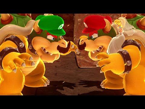 Super Mario Odyssey - All Boss Battles (Multiplayer