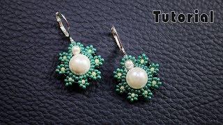 Pearl Beaded Earrings    Diy Earrings    Quick & Easy To Make Beaded Earrings