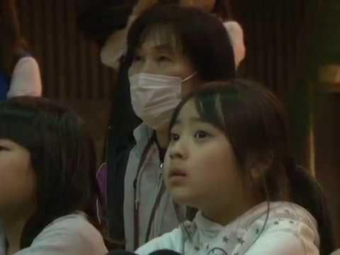 中国青園小学校と内牧小学校学童との交流