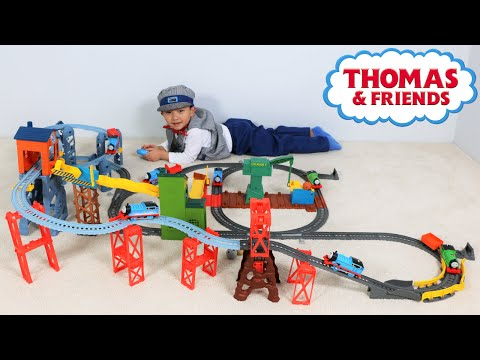 Thomas The Tank Engine Mad Dash On Sodor Set Unboxing and Playing Huge Rail Track Ckn Toys
