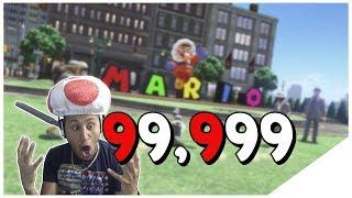 NUMBER 1 ON LEADERBOARD! | Super Mario Odyssey - Reach 99,999 Jump Rope Challenge Glitch