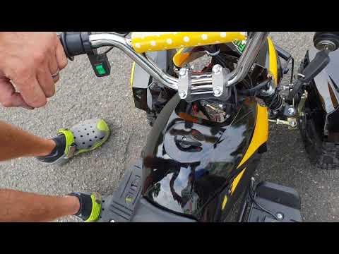 WWW.FUNQUAD24.COM 800W Eco Cobra Miniquad Elektroquad Atv Kinderquad 3 Stufen Drossel LICHT