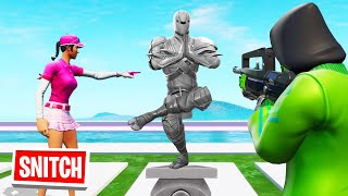 SNITCH The HIDDEN STATUE To WIN! (Fortnite Hide And Seek)
