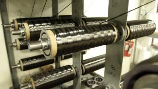Spools of Carbon Fiber Tow in Kreel
