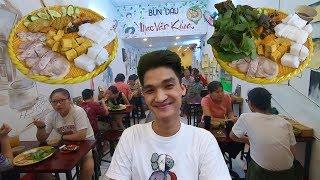 Gặp Mạc Văn Khoa ăn mẹt bún đậu mắm tôm đặc biệt 140k vừa mở ở đường Trần Quang Khải Quận 1