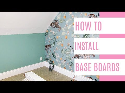 how to install baseboards video