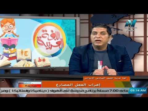 لغة عربية للصف السادس الابتدائي 2021  ( ترم 2 ) الحلقة 6 – اعراب الفعل المضارع