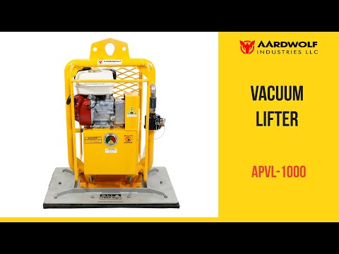 Vacuum Lifter with Petrol Fuelled Engine from Aardwolf