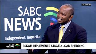 Reaction To Eskom's Stage 2 Loadshedding: Ted Blom