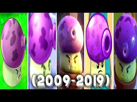 Evolution of Fume Shroom | PVZ, PvZ DS, PvZ2, PVZ Garden Warfare, PVZ Heroes, PvZ GW2 (2009 - 2019)