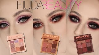 HUDA BEAUTY Nude Obsessions | 3 PALETTES 3 LOOKS
