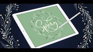 Create Easy Floral Wreaths in Procreate