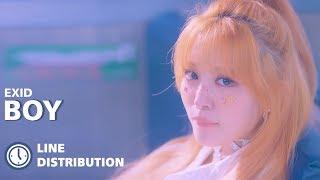 EXID (이엑스아이디) - 'BOY' | Line Distribution