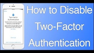 How to turn off Two-factor authentication on iPhone| how to disable two factor authentication iphone