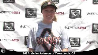 2021 Vivian Johnson Lefty Hitter, Shortstop & 3rd Base Softball Skills Video - AASA 18 Gold