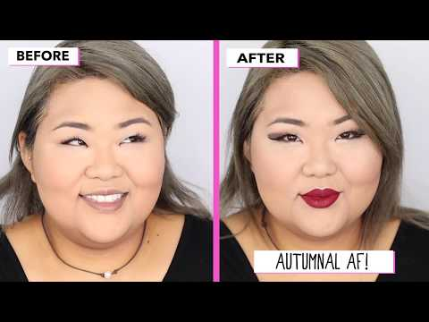 Natural Smokey Eye With Red Lipstick - Fall Makeup 2019