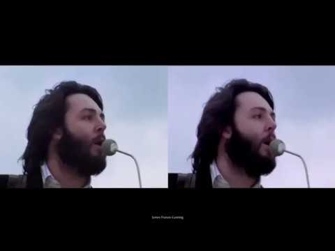THE BEATLES~ GET BACK ~Rooftop Performance 69′ Split Screen[HQ]