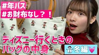 【カバンの中身】ディズニー行くときのバッグの中身紹介!冬編!【What's In My Bag?】