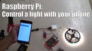 Raspberry Pi: 1 Channel Relay control with a Mobile Phone step by step