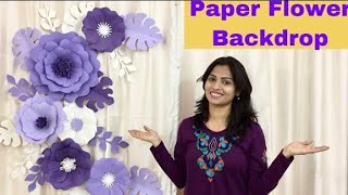 Paper Flower Decoration For Birthday, Engagement, Baby Shower & For Any Occasion At Home